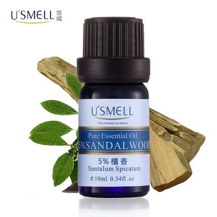 Usmell leisurely smell of sandalwood oil 10 australia 5% ml moisturizing firming essential oils aromatherapy