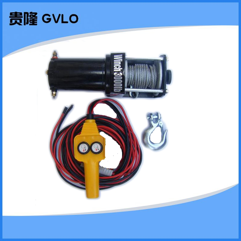 V electric winch | electric | car | car with a small crane hoist winch 3000 lbs winch electric winch
