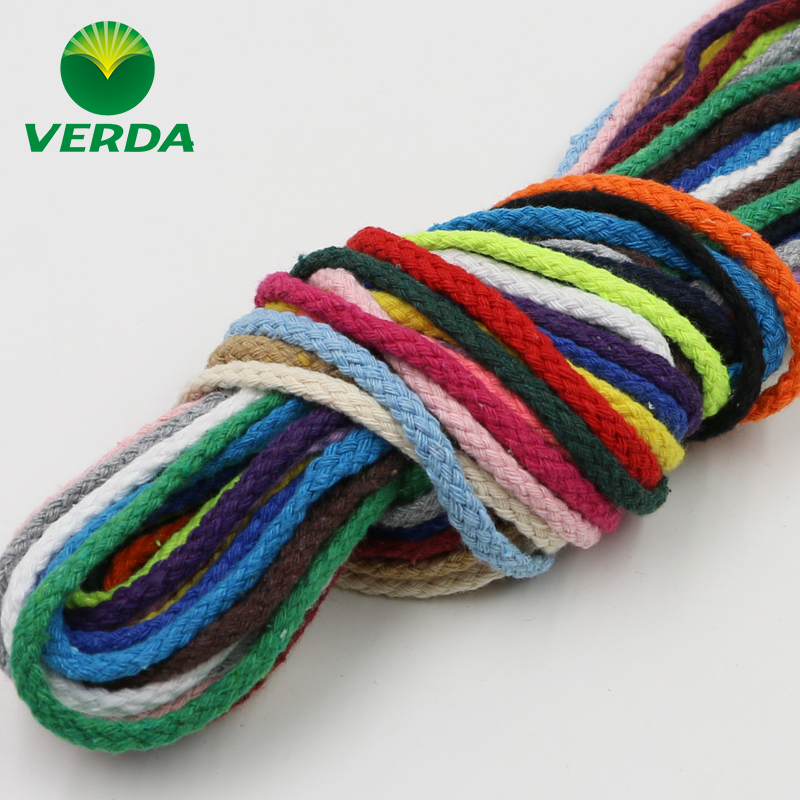 Vader 5mm colored cotton rope stereotyped nursery diy handmade hat rope braided cotton rope drawstring cotton rope tied