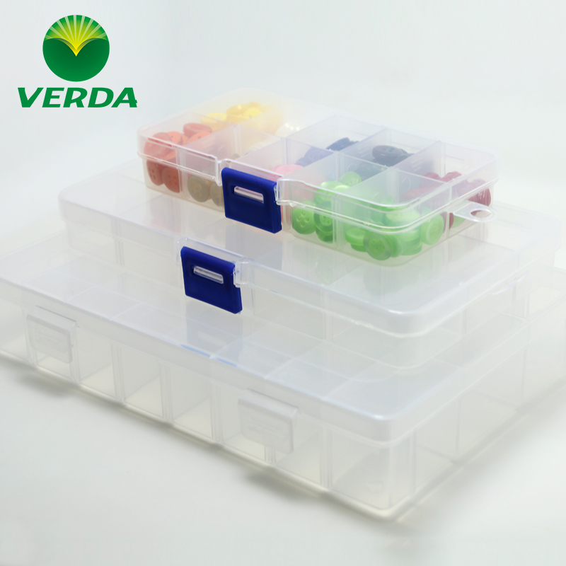Vader transparent grid storage box small multi plaid plastic beaded jewelry box storage box jewelry box accessories