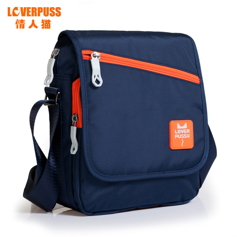 36ebd21864 Get Quotations · Valentine s day cat shoulder bag male korean version of casual  male sports bag leisure bag man