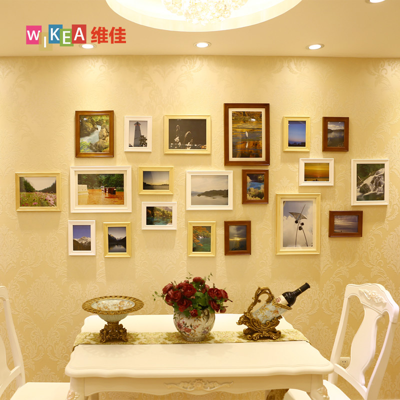 Vanguard european vintage wood frame wall photo wall living room wall creative combination photo frame wall photo frame wall