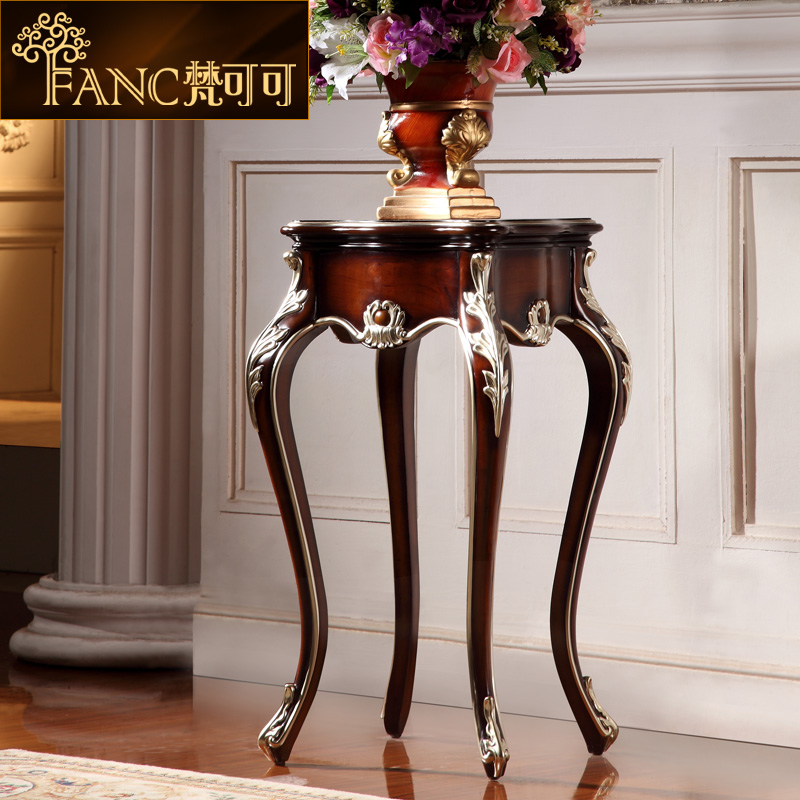 Vatican cocoa american continental furniture solid wood floor flower pots frame luxury villa living room decorative flower