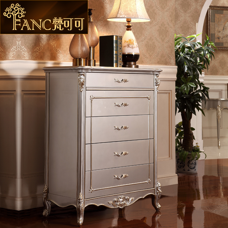 Vatican cocoa european neoclassical clubhouse bedroom furniture chest of drawers chest of drawers french wood paint lockers