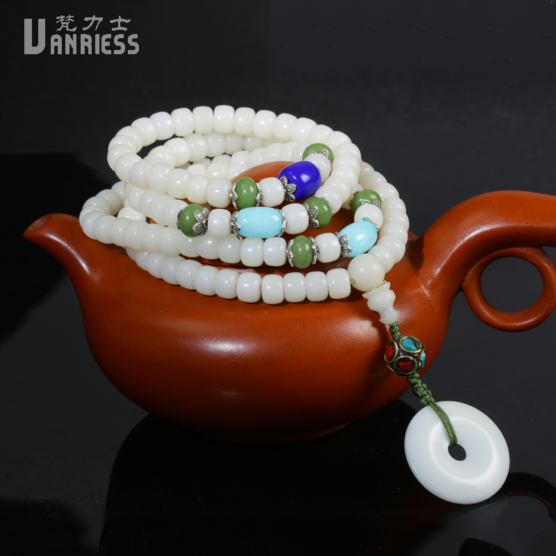 Vatican lux natural white bodhi root dry grinding bodhi root 108 beads bracelets for men and women bracelets necklaces