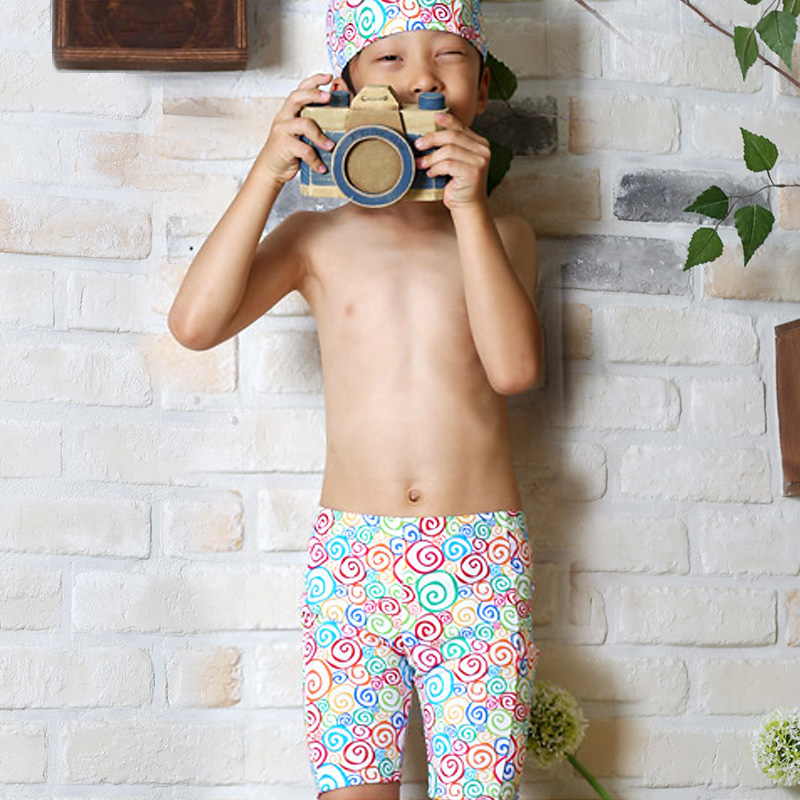 Vendis extreme korean baby girls and boys swimming cap swimming cap color cartoon boxer swim trunks swimming trunks beach shorts