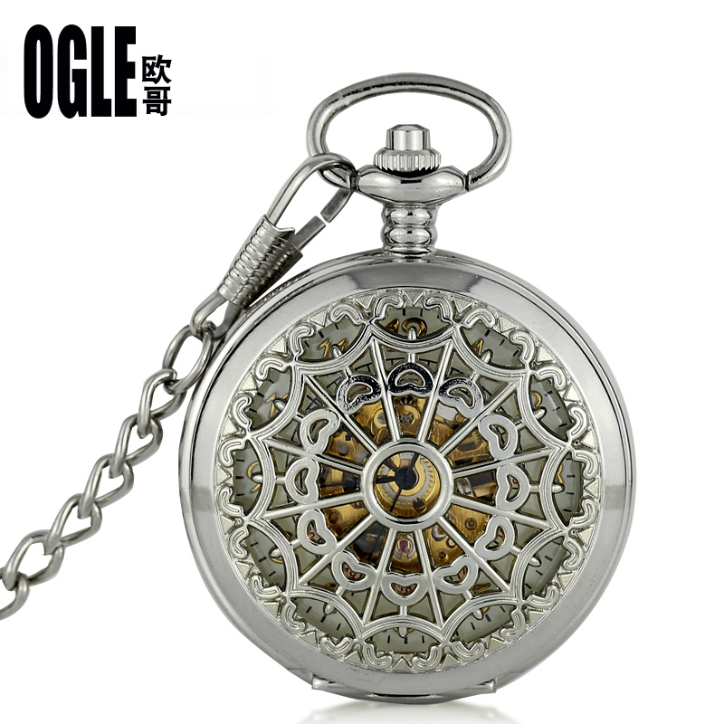 Vintage mechanical pocket watch pocket watch retro flip pocket watch necklace pocket watch pocket watch men and women students to understand the hollow pocket watch mechanical watches