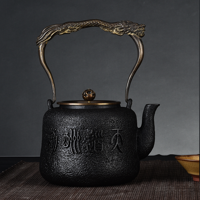 Virtuous iron pot uncoated cast iron kettle southern old iron pot handmade cast iron teapot effort teapot