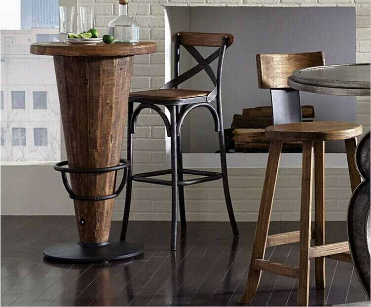 Get Quotations Vista Haodian American Retro To Do The Old Bar Stool High Chair