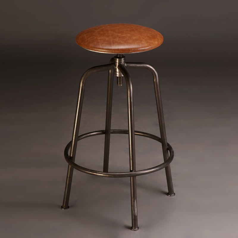 [Vista] haodian american retro to do the old wrought iron bar stools wood bar chairs bar chair lift stool