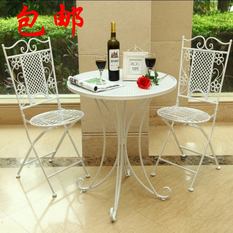 [Vista] haodian shipping continental iron wrought iron balcony living room table and chairs casual coffee table and chairs suite spot
