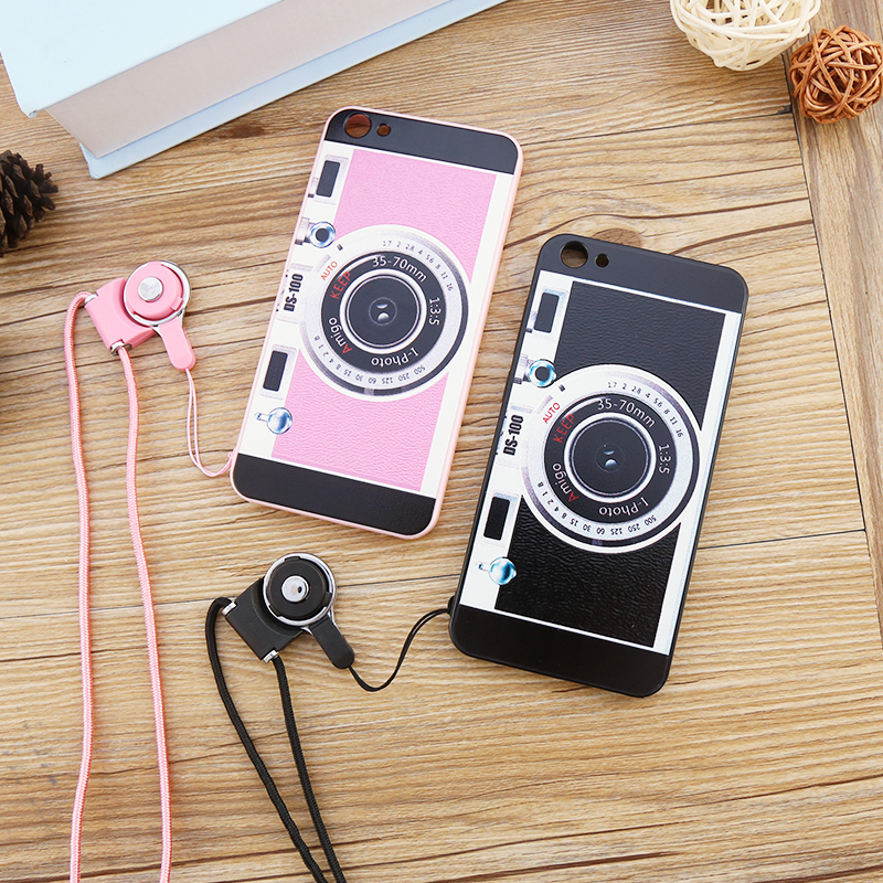 Vivox7 x7 mobile phone shell vivo bbk protective sleeve popular brands of soft edge female male models cartoon lanyard camera