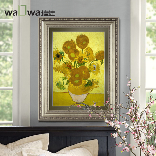 Wall frog van gogh sunflower european restaurant entrance living room decorative painting mural paintings modern minimalist wall painting