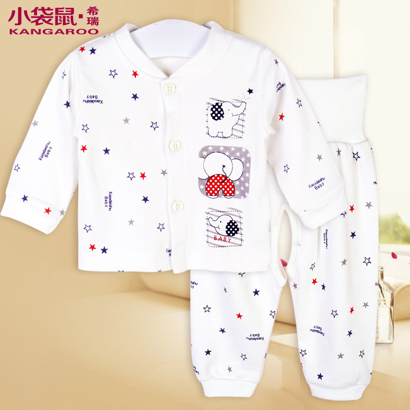 Wallabies tome baby clothes cotton suit spring and autumn newborn clothes 0--3 months baby cotton underwear