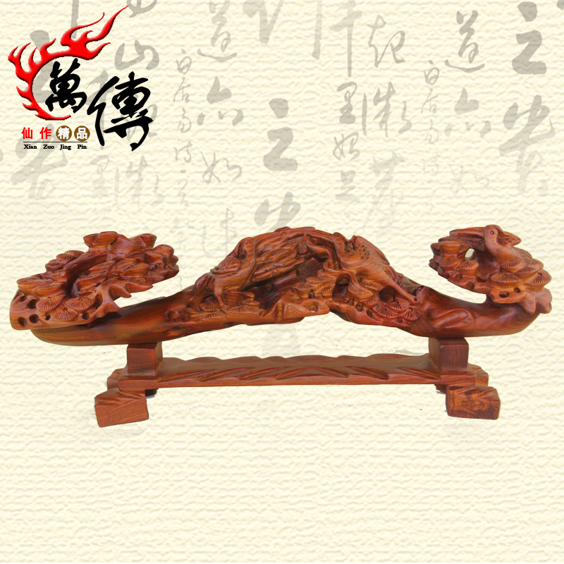 Wan chuan rosewood carved mahogany wishful ornaments lucky auspicious bird songhe sickness wishful wood crafts