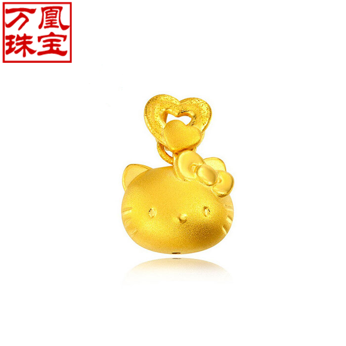 Wan phoenix 3d hard gold jewelry gold pendant 99 gold pendant necklace love hello kitty kt oxytropis w511