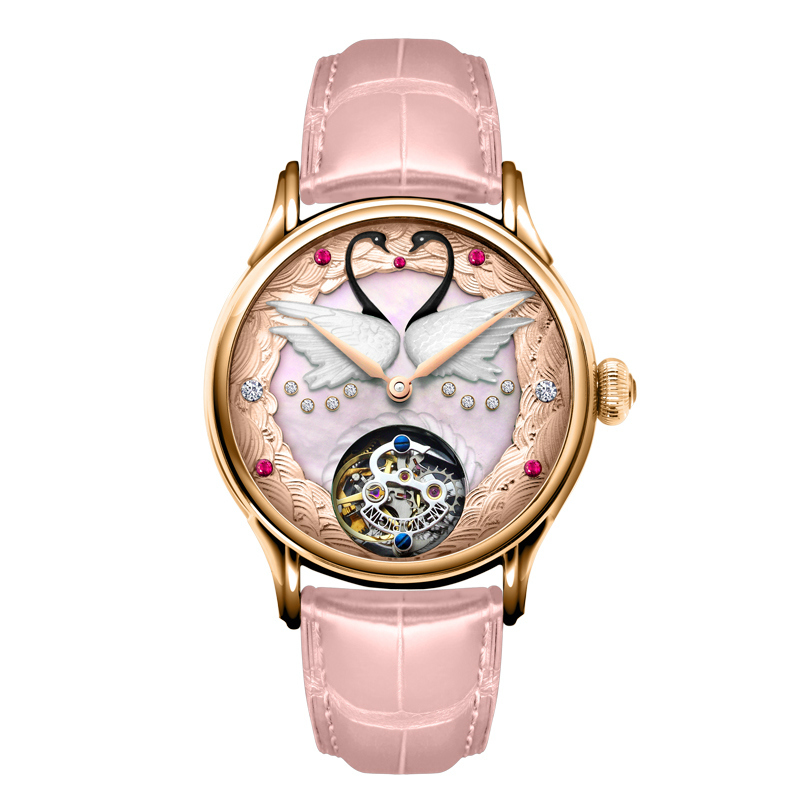 Wan xi quan tourbillon watches watches swan series of fashion diamond ladies watches mechanical watches