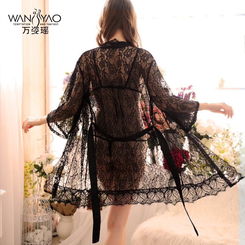 Wan zi yao lace suspenders contains adult sexy pajamas female summer thin section lace nightgown women tracksuit dress