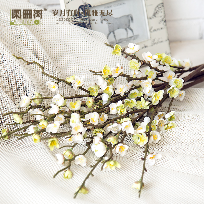Waning tree-ink plum plants silk flower artificial flowers artificial flowers decorative handmade crafts home decoration