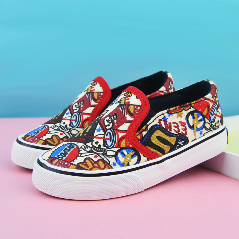 Warrior shoes canvas shoes boys shoes girls shoes autumn paragraph warrior shoes children canvas shoes a pedal sets foot canvas shoes