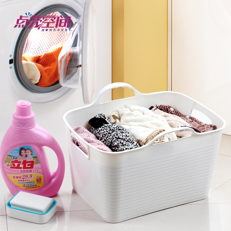 Wash laundry basket clothes basket of dirty clothes storage baskets toy box storage barrels plastic laundry basket laundry basket clothes basket