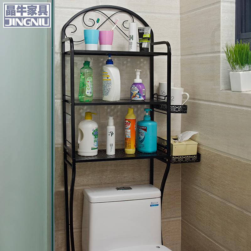 Washing machine racks bathroom toilet bathroom shelf bathroom toilet shelving racks shelf floor wall