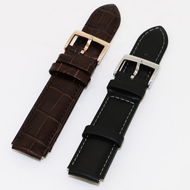 Watch accessories watches with 63,1 real leather custom leather strap watch with leather strap accessories 18mm