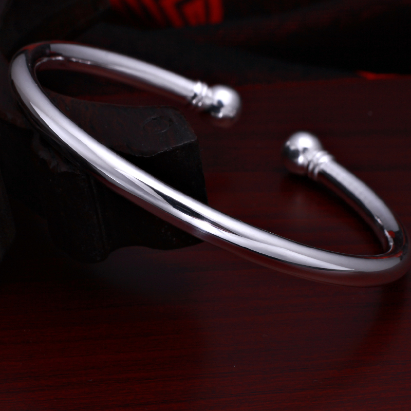 Water color silver s999 sterling silver bracelet korean fashion silver bracelet silver bracelet opening silver bracelet circle containing silver 99.99%
