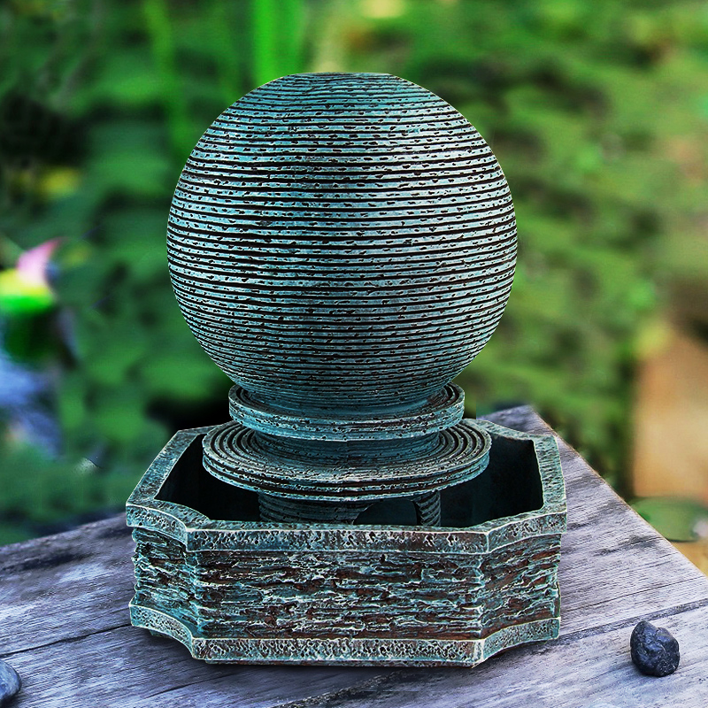 Water fountain humidifier creative living room office home decorations feng shui ball ornaments lucky opening gifts