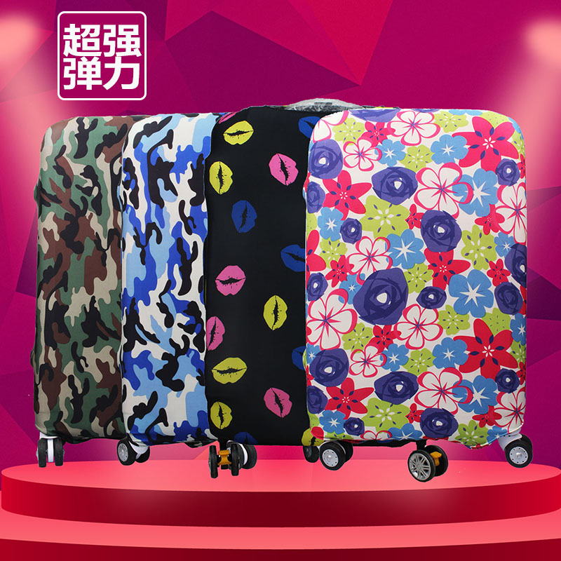 Water resistant elastic luggage sets luggage trolley case protective sleeve 20/24/28 inch suitcase thick dust cover dust cover