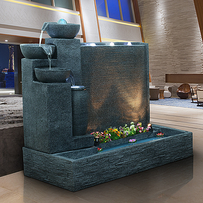 Get Quotations Water Wall Fountain Furnishings Garden Crafts Feng Shui Fish Tank Round Large Living Room