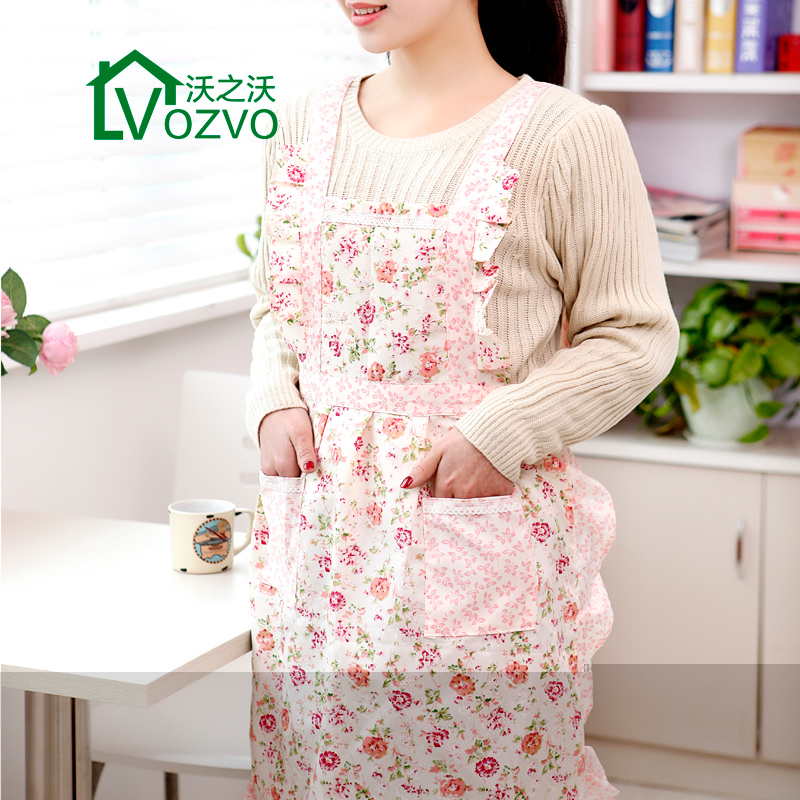 Waugh of waugh korean version of the simple kitchen clean household cleaning antifouling work apron fashion sleeveless apron