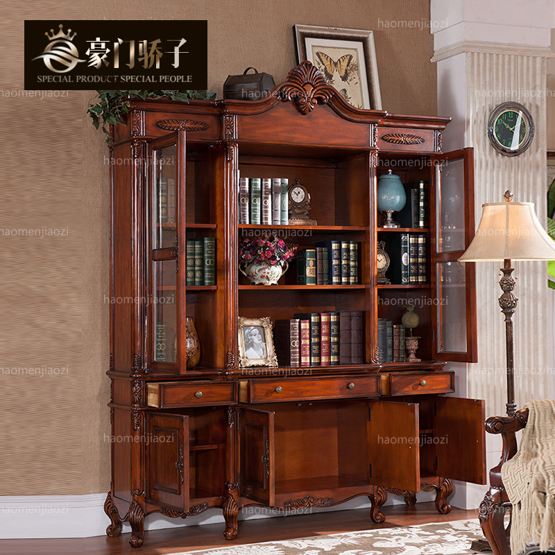 Wealthy family pride euclidian file cabinet american furniture american country wood bookcase storage lockers special
