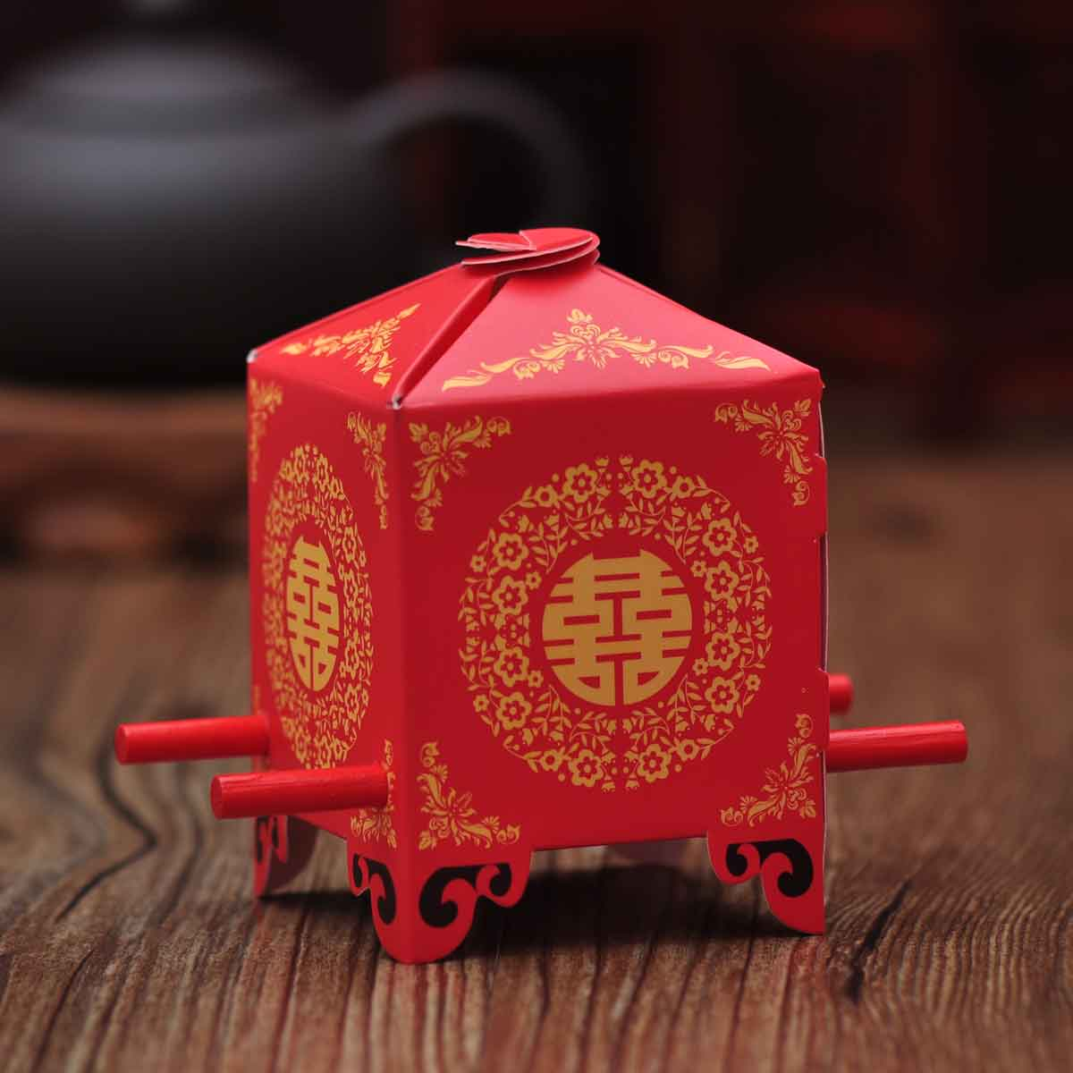 Wedding candy box candy box wedding vinyluse lift palanquin chinese chinese style candy box candy box candy box accessories