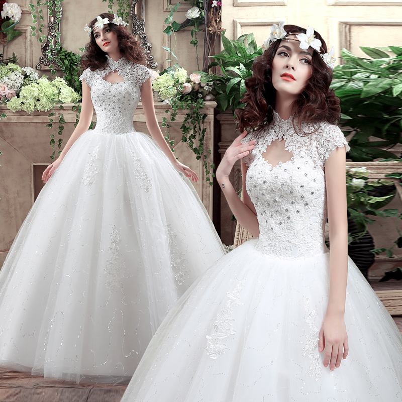 Wedding dress 2016 new bride qi wedding dress vintage wedding dress large size korean wedding custom wedding bandage