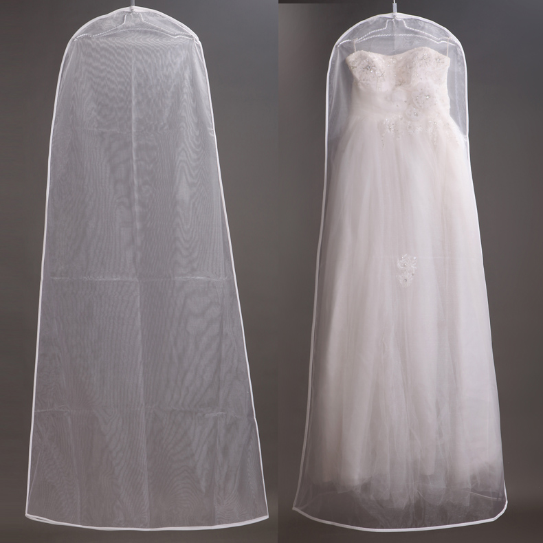 Wedding dress dust cover dust cover wedding wedding dress dust bag breathable transparent plus long glass sand wedding photo studio