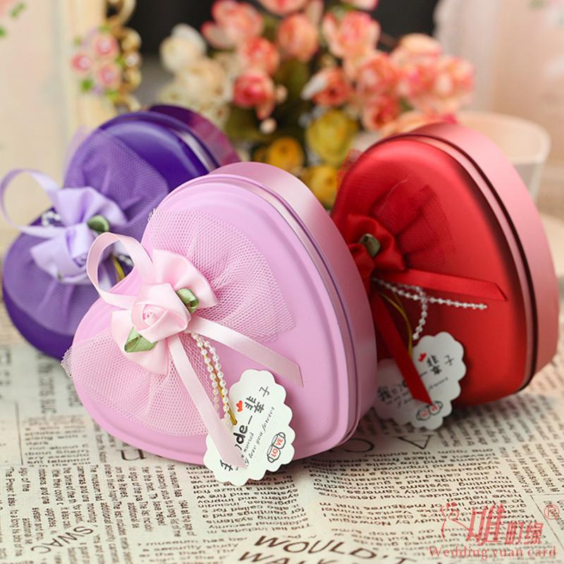 Wedding supplies creative candy box wedding candy box wedding tin box dark incense heart large tin