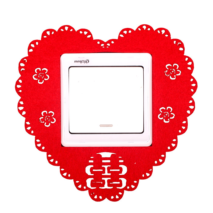 Wedding supplies wedding marriage room switch stickers thick nonwoven fabric switch stickers red hi word switch stickers
