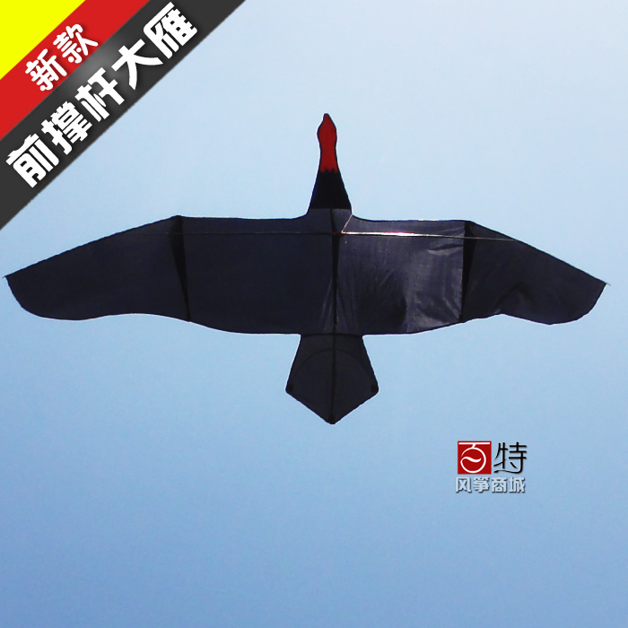Weifang kite baxter brand new front struts 3 m black/pink good breeze kite flying geese