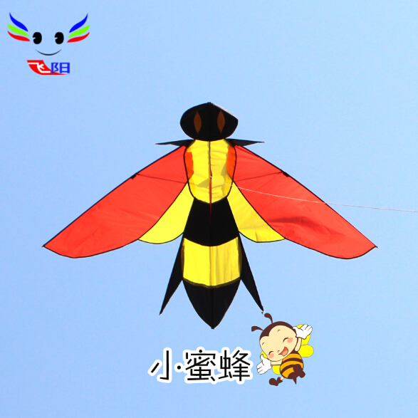 Weifang kite flying kite male children cartoon bee bumblebee breeze easy to fly a kite easy to install with a round wire