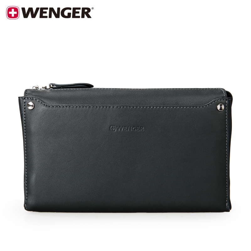 Wenger/wenger swiss army knife leather wrist bag men's business casual clutch bag clutch wallet men