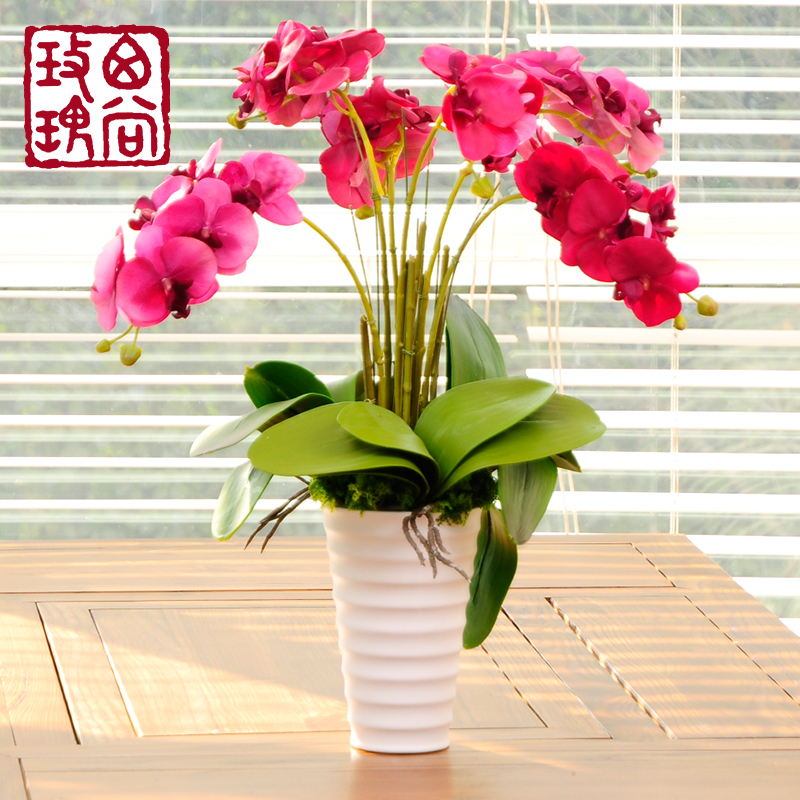 West still rose high quality artificial flowers phalaenopsis flower vase suit artificial flowers artificial flowers potted jasmine tea has established several floral art