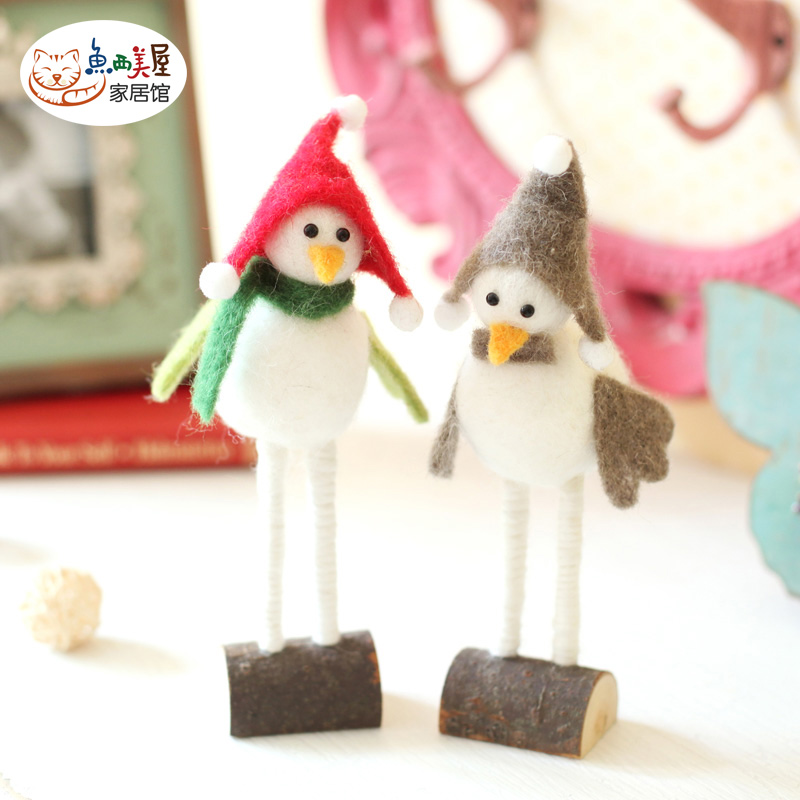 Western us fish house] [wool felt stay meng bird ornaments home accessories living room ornaments decorations gifts