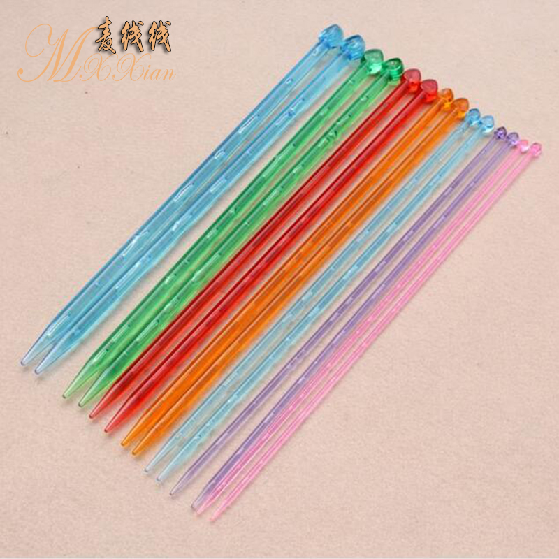 Wheat braided line tool crystal needle knitting scarves thick needle sweater knitting needles acrylic 4-10mm