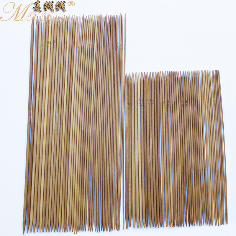 Wheat line line carbonized bamboo needle sweater knitting tool kit carbonized bamboo knitting needle sweater needle 11 pay