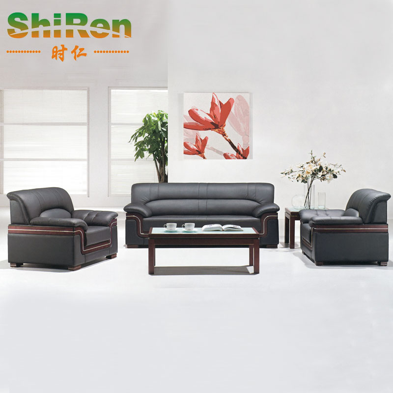 When jen office furniture leisure sofa office sofa leather office sofa combination of simple and stylish sofa direct
