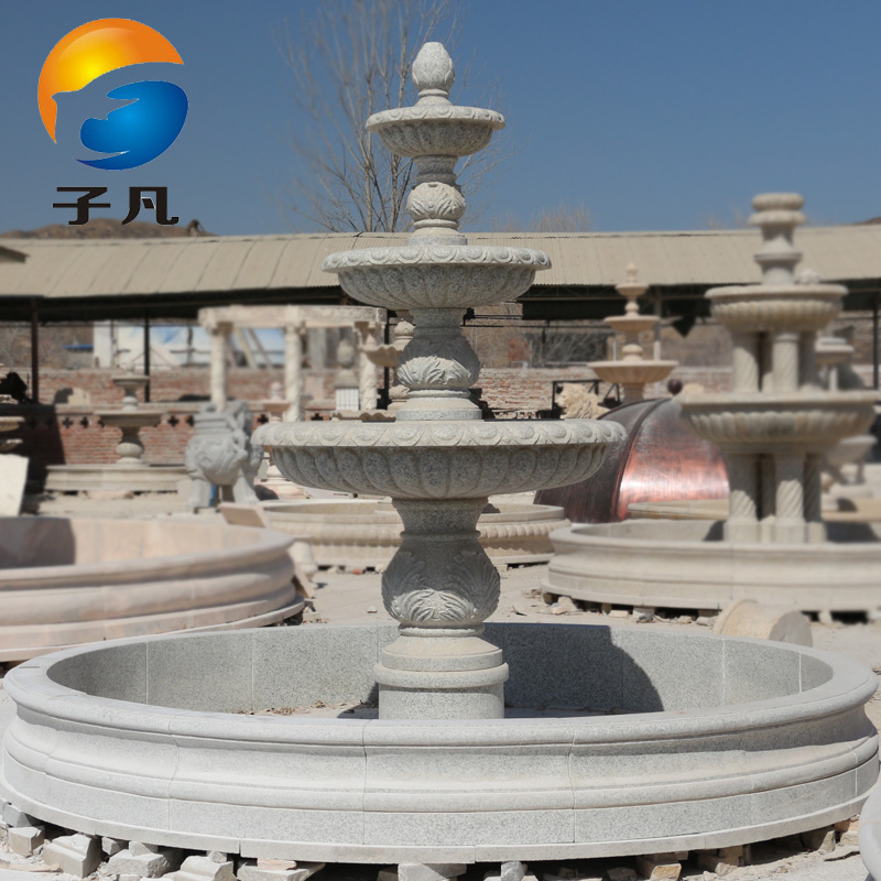 Where child black and white dots granite stone interior courtyard waterfall landscape water fountain ornaments sculpture waterscape PQ15