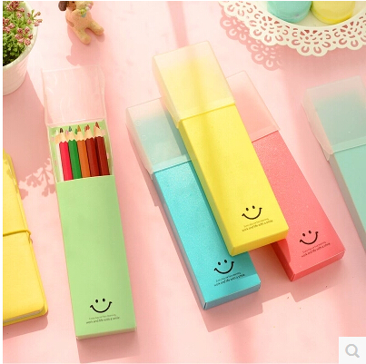 Where gifted stationery korea stationery â push the lid love there smile stationery solid storage box pencil case pencil cases