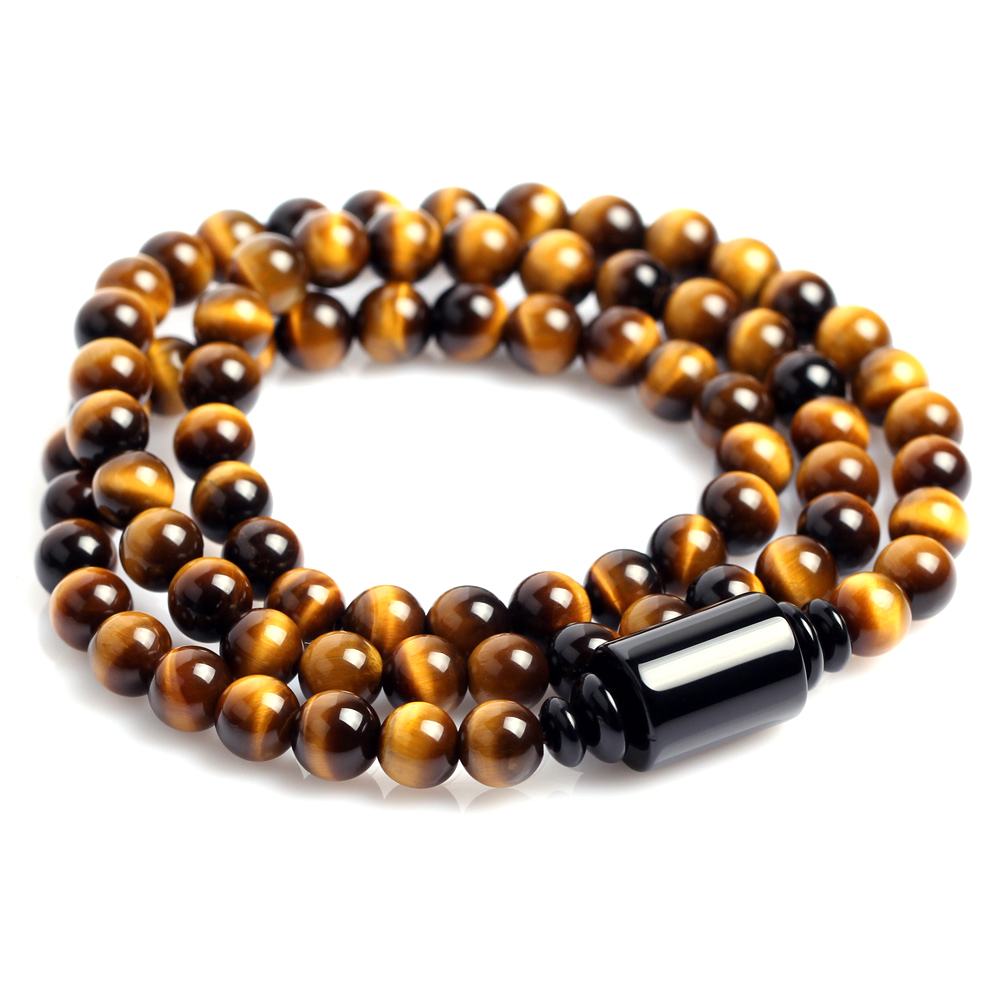 Where gufan ancient yellow tiger eye tiger eye stone natural crystal bracelet men's boutique beads bracelets multiturn jewelry