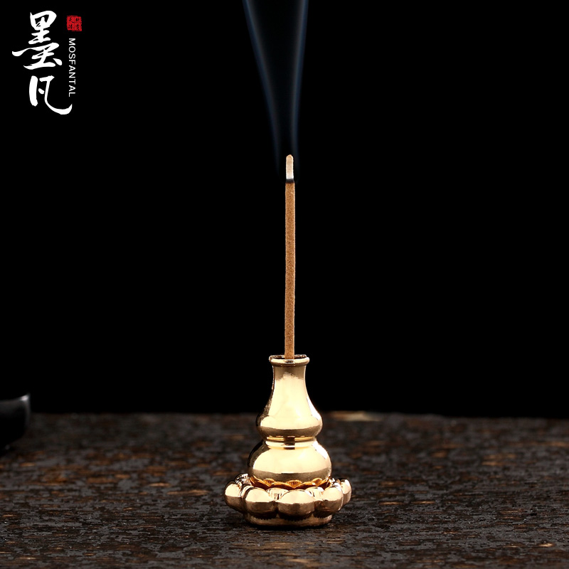 Where the ink minimalist portable hoist copper incense holder incense incense inserted prop compact disc incense censer incense is